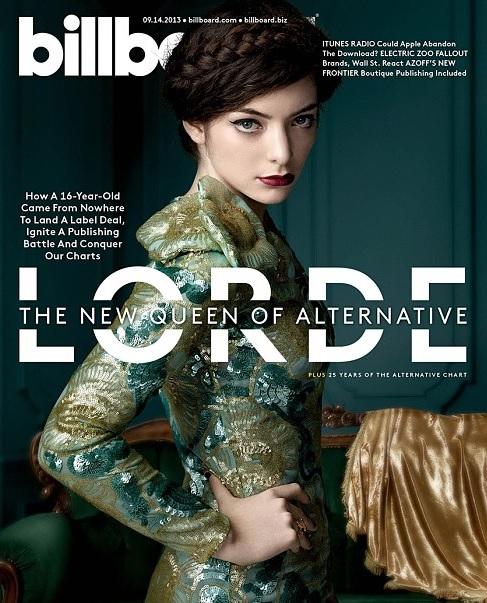 """Lorde was called """"the new queen of alternative"""" by Billboard Magazine"""